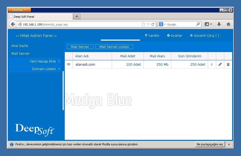 Medya Blue - hMail Admin Panel - Deep Soft hMail Admin Panel (1 0 0)