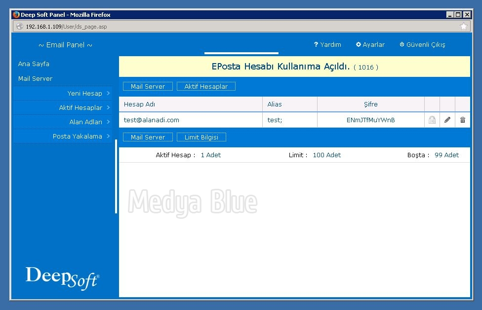 Medya Blue - hMail Admin Panel - Deep Soft hMail Admin Panel (1 0 0)